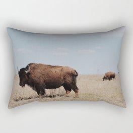 Big Horn Bison Rectangular Pillow