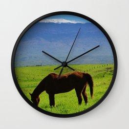Kamuela Countryside with Mauna Kea Wall Clock