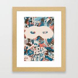 Save us. Framed Art Print