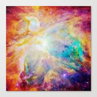 nebula Canvas Prints featuring nEBula : Colorful Orion Nebula by 2sweet4words Designs