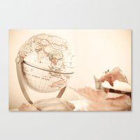globe Canvas Prints featuring Globe by INK Photos