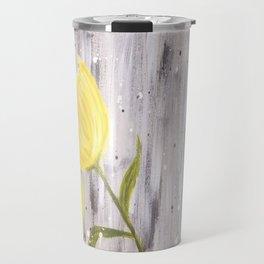 Yellow Tulips in Grey Travel Mug