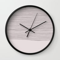 stripe Wall Clocks featuring Stripe by siobhaniaa