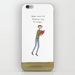 books were his favourite way to escape iPhone Skin