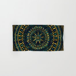 Chess Pieces Mandala - Marble and Golden texture Hand & Bath Towel