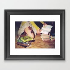 Bookish 04 Framed Art Print