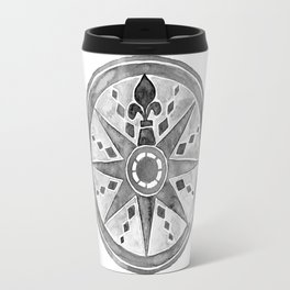 Watercolor Compass gray Travel Mug