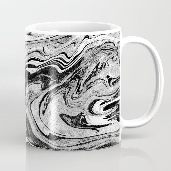 Masuki - black and white minimal spilled ink marbled paper marble ...