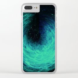 Galaxy Spiral Clear iPhone Case