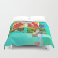 pool Duvet Covers featuring POOL by  ECOLARTE
