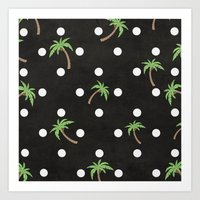 palm trees Art Prints featuring Palm Trees by BTP Designs