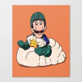 Luigi Super Mario Bros 1989 Happy Meal Toy Canvas Print