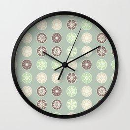 Pastel snowflakes Wall Clock