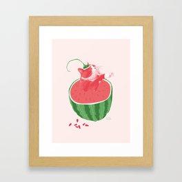 Mussegull Melonis Framed Art Print