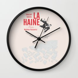 La Haine (Hate) Vincent Cassel, Mathieu Kassovitz, alternative movie poster, banlieue french film Wall Clock