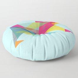 Fractal Bear - neon colorways Floor Pillow