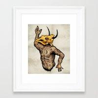 taurus Framed Art Prints featuring Taurus by sociopteryx