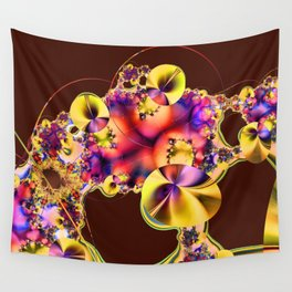 Hibiscus in Yellow Wall Tapestry
