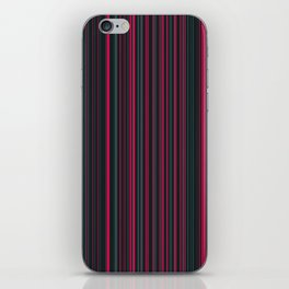 Pink Grey Candy Lines iPhone Skin
