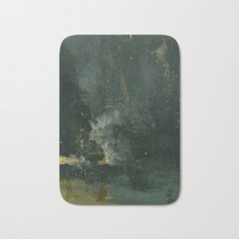 Nocturne In Black And Gold The Falling Rocket By James Mcneill Whistler | Reproduction Bath Mat