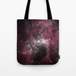 Abstract Purple Space Image Tote Bag