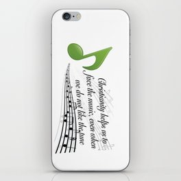 Face the Music iPhone Skin