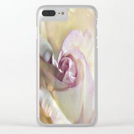 Soft Delicate Petals Clear iPhone Case