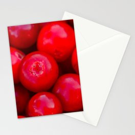 lingonberry berry pattern Stationery Cards