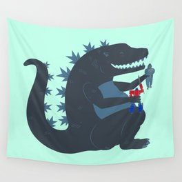 Let's be best friends forever! - Godzilla Wall Tapestry