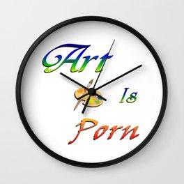 Art is Porn Wall Clock