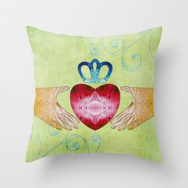 Colorful Inspirational Art - Friendship - Sharon Cummings Throw Pillow