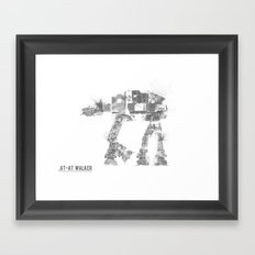 Star Wars Vehicle AT-AT Walker Framed Art Print