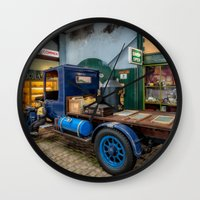 truck Wall Clocks featuring Vintage Truck by Adrian Evans