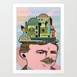 GLAD HATTER 3 Art Print