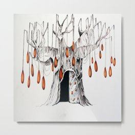 arbre au perles Metal Print