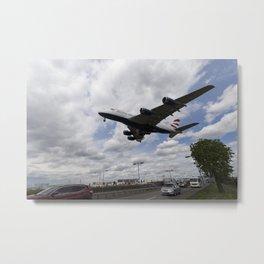 British Airways A380 Heathrow Airport Metal Print