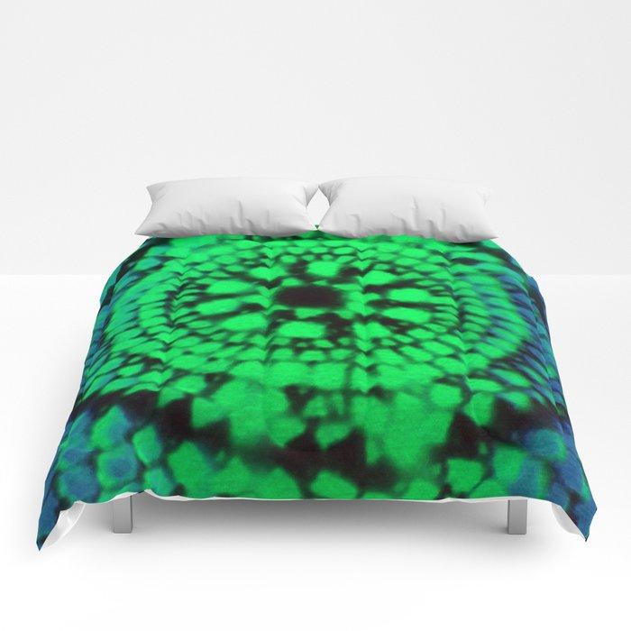 Scale Mandala 3 Comforters