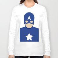 captain Long Sleeve T-shirts featuring Captain by Mi Absurda Osadía