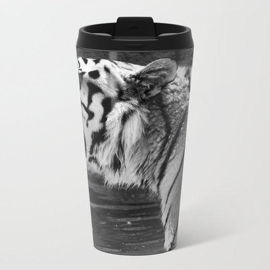Tiger Photography | Big Cats | Animal Photography | Wildlife Metal Travel Mug