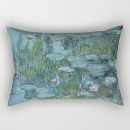 Monet, Water Lilies, Nympheas, Seerosen, 1915 Rectangular Pillow