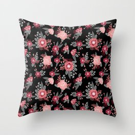 Floral Bama alabama crimson tide pattern gifts for university of alabama students and alumni Throw Pillow