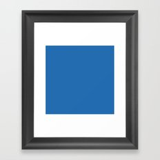 Azure Strong Blue Solid Matte Colour Palette Framed Art Print