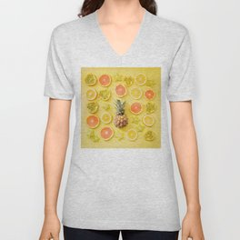 Citrus Party Unisex V-Neck