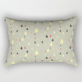 retro raindrops Rectangular Pillow