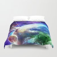constellation Duvet Covers featuring Constellation by J ō v