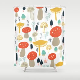 Forest Mushrooms Shower Curtain