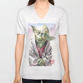 Yoda by Aaron Bir Unisex V-Neck