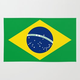 Brazil Flag Graphic Design Rug