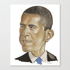 Barack Obama (US President) Canvas Print