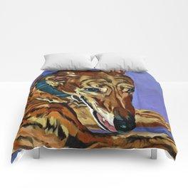 Emmitt the Whippet Dog Portrait Comforters